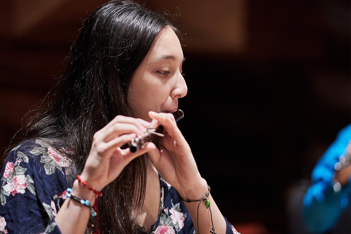 Joven flautista de El Sistema, Orquesta Simón Bolívar 45 Aniversario.