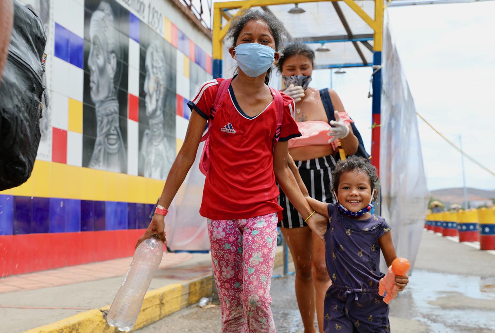 Personas retornadas en San Antonio de Táchira. Foto: OCHA/Gema Cortés